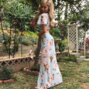 Gorgeous Flora Maxi Dress with Cut Open back